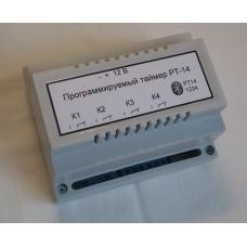 Программируемый таймер PT14. 4 канала, BT, 12В