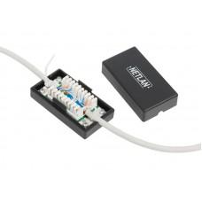 Кабельный соединитель NETLAN IDC-IDC, Кат.5e, KRONE, T568A/B, неэкранированный, черный, уп-ка 10шт.