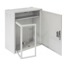 Настенный антивандальный шкаф с поворотной рамой NETLAN, 4U, Ш580хВ700хГ280мм