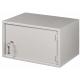 Настенный антивандальный шкаф с дверью на петлях NETLAN, 7U, Ш520хВ320хГ400мм
