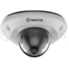 IP видеокамера купольная антивандальнаяс ИК подсветкой, двухмегапиксельная TSi-De23FPM (2.8)