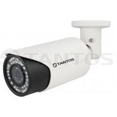 IP видеокамера уличная цилиндрическая с ИК подсветкой, двухмегапиксельная TSi-Pe2VP (2.8-12)