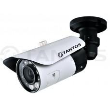 Видеокамера уличная цилиндрическая с ИК подсветкой, четырех мегапиксельная TSi-Pm451V (3-12)