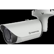 IP видеокамера уличная цилиндрическая с ИК подсветкой, двухмегапиксельная TSi-Pn225VP (2.8-12)