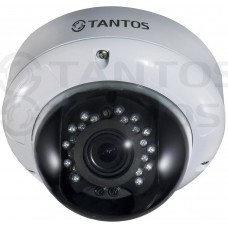 Антивандальная купольная цветная видеокамера TSc-DVi960pAHDv (2.8-12)