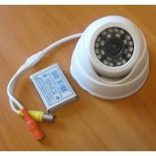 Купольная антивандальная видеокамера с ИК-подсветкой 420 твл.